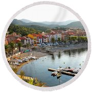 Colorful Collioure Round Beach Towel