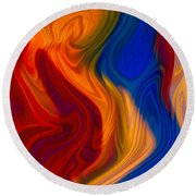 Colorful Compromises II Round Beach Towel