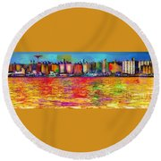 Colorful Coney Island Round Beach Towel
