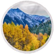 Colorful Crested Butte Colorado Round Beach Towel