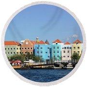 Colorful Curacao Round Beach Towel