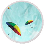 Colorful Day Round Beach Towel by Mark Ashkenazi