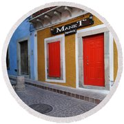 Colorful Doors Guanajuato Mexico Round Beach Towel