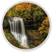 Colorful Dry Falls Round Beach Towel