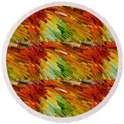 Colorful Extrude 2 Round Beach Towel