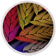 Colorful Feather Fern - Abstract - Fractal Art - Square - 2 Tr Round Beach Towel