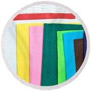 Colorful Felt Round Beach Towel