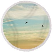 Colorful Flight Round Beach Towel