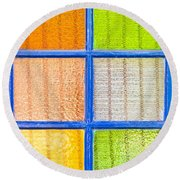 Colorful Glass Round Beach Towel