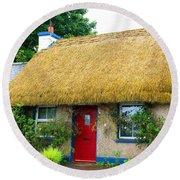 Colorful Irish Cottage Round Beach Towel