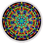 Colorful Kolide  Round Beach Towel