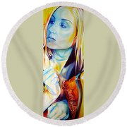 Colorful Love Round Beach Towel