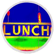 Colorful Lunch Round Beach Towel