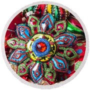 Colorful Ornaments Round Beach Towel
