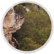 Colorful Overlook Round Beach Towel