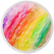 Colorful Painting Pattern Round Beach Towel