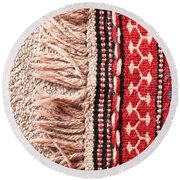 Colorful Rug Round Beach Towel
