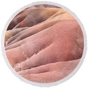 Colorful Sands Round Beach Towel