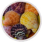 Colorful Shells Round Beach Towel