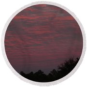 Colorful Sky Number 1 Round Beach Towel