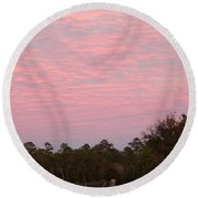 Colorful Sky Number 2 Round Beach Towel