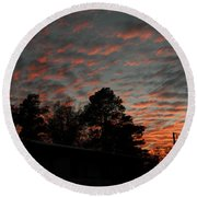 Colorful Sky Number 5 Round Beach Towel