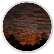Colorful Sky Number 7 Round Beach Towel