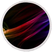 Colorful Smoke Composition Round Beach Towel
