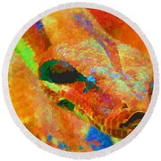 Colorful Snake Round Beach Towel