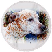 Colorful Spots Round Beach Towel