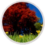 Colorful Spring Round Beach Towel