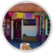 Colorful Store In Albuquerque Round Beach Towel