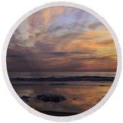 Colorful Sunrise Round Beach Towel