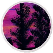 Colorful - Sunset Round Beach Towel