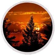 Colorful Sunset IIl Round Beach Towel