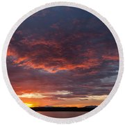 Colorful Sunset, Snaefellsnes Round Beach Towel