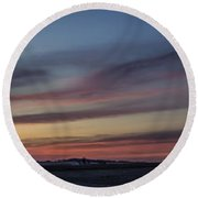 Colorful Sunset Spring 2013 Round Beach Towel