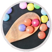Colorful Sweets Round Beach Towel