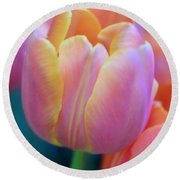 Colorful Tulip Round Beach Towel by Kathleen Struckle