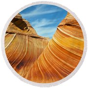 Colorful Waves Round Beach Towel