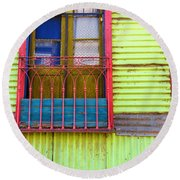Colorful Window Round Beach Towel