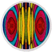 Colorful World Round Beach Towel