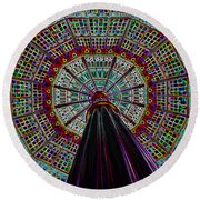 Colorized Dome Round Beach Towel