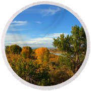 Colors Along The Colorado Round Beach Towel