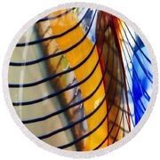 Colors And Lines Round Beach Towel