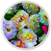 Colors And Roses Round Beach Towel