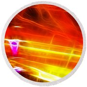 Colors Explosion Round Beach Towel