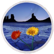 Colors In The Valley Round Beach Towel