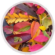 Colors Of Autumn Round Beach Towel