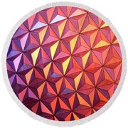 Colors Of Epcot Round Beach Towel